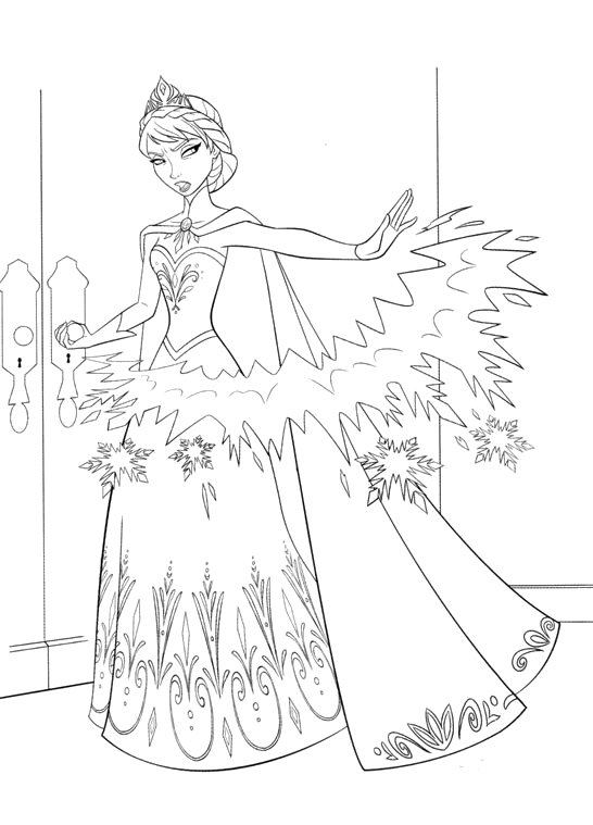 catalin ifrim elsa coloring pages - photo#25