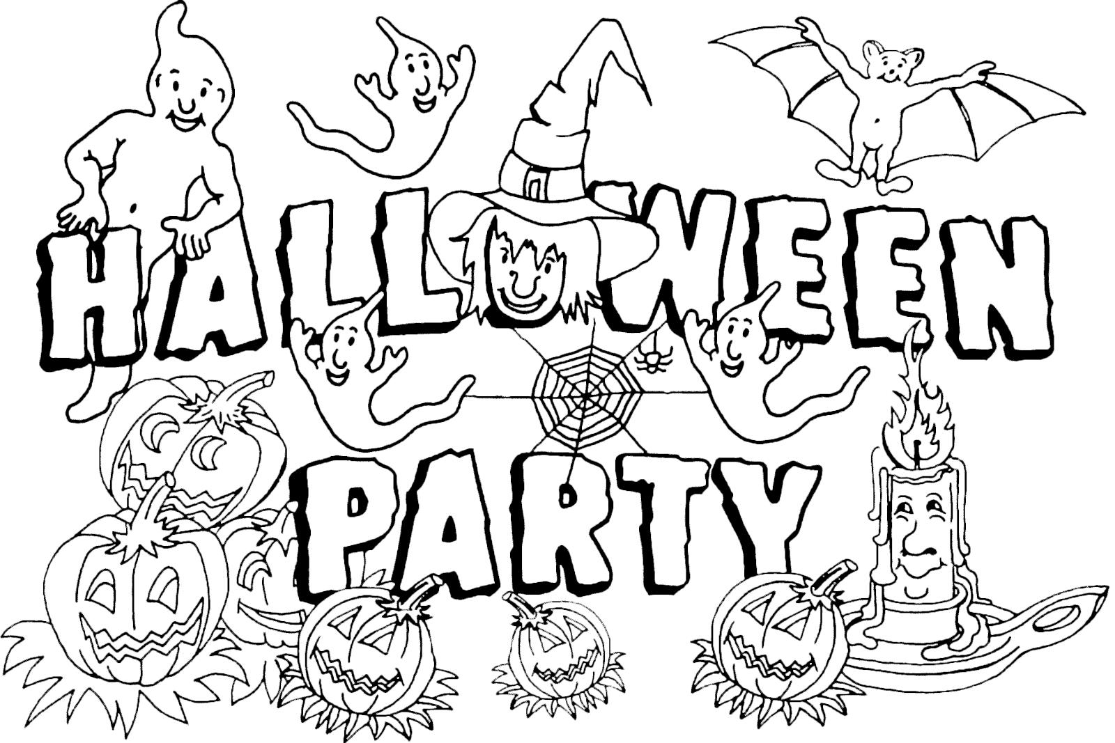 Halloween scritta per la festa di halloween con streghe - Come disegnare immagini di halloween ...