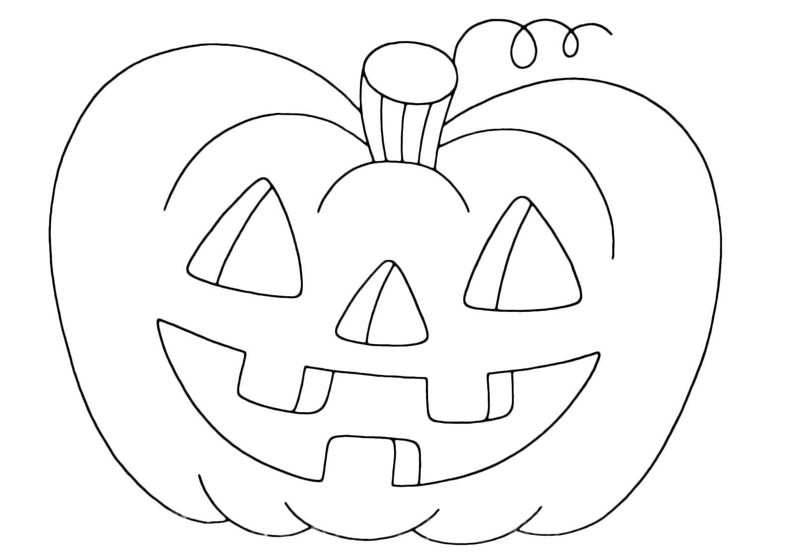 Zucca Halloween Da Colorare