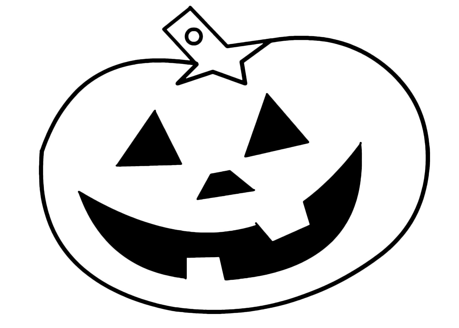 Zucca Halloween Da Colorare: Una Zucca Di Halloween Da Colorare Tutta Di