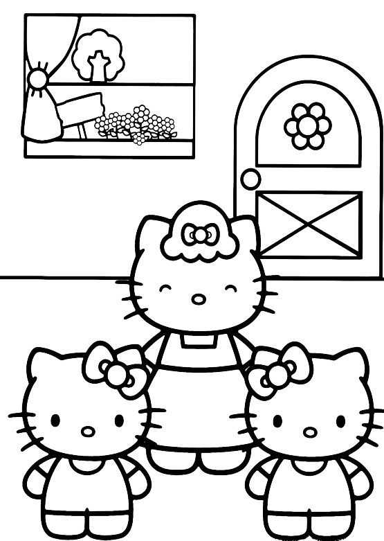Hello Kitty - Hello Kitty a casa della nonna