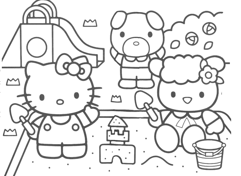 Hello Kitty - Hello Kitty al parco giochi