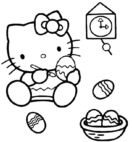 Hello Kitty - Hello Kitty colora le uova