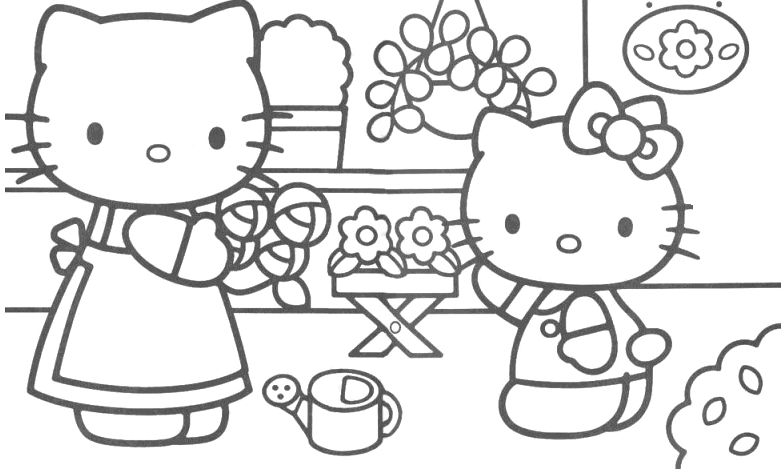 Hello Kitty - Hello Kitty compra dei fiori