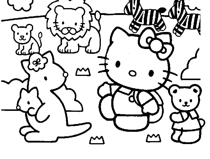 Hello Kitty Hello Kitty Con Gli Animali Dello Zoo