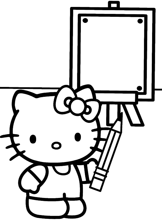 Hello Kitty - Hello Kitty disegna