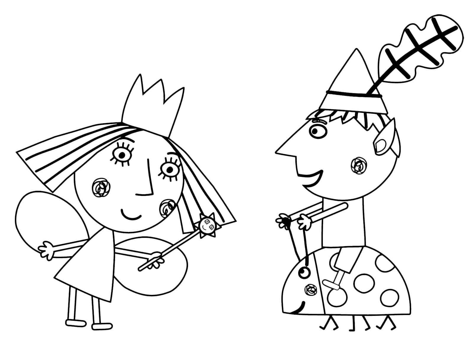 Disegni Di Il Piccolo Regno Di Ben E Holly Da Colorare