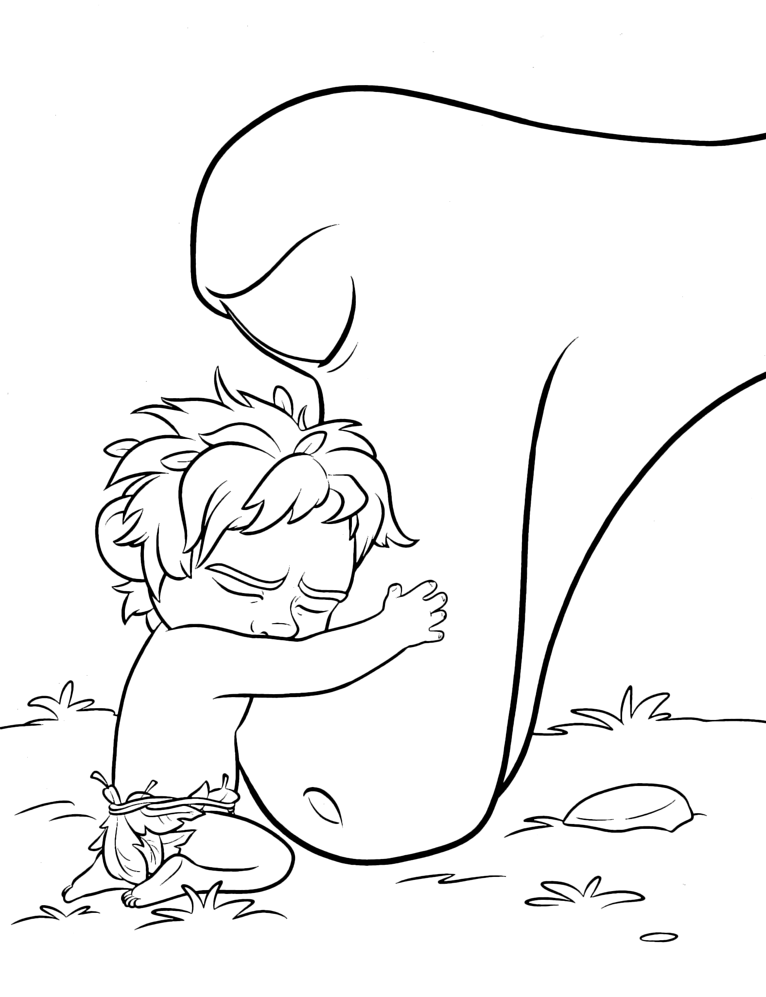 Disney Coloring Pages Good Dinosaur
