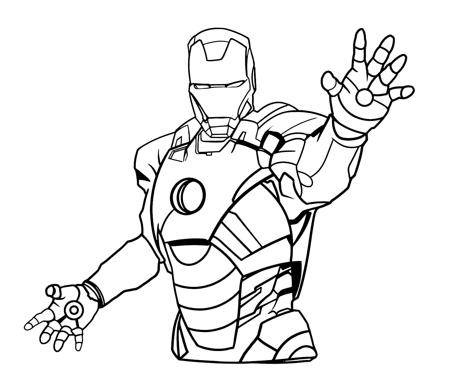 Disegni Di Iron Man Da Colorare