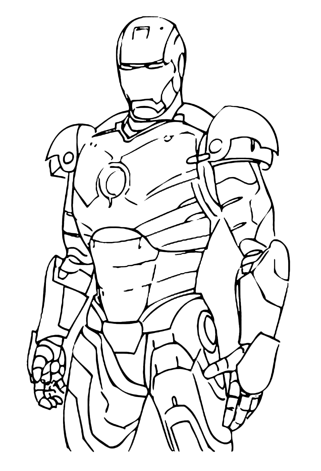 Disegni da colorare e stampare iron man for Disegni da colorare iron man