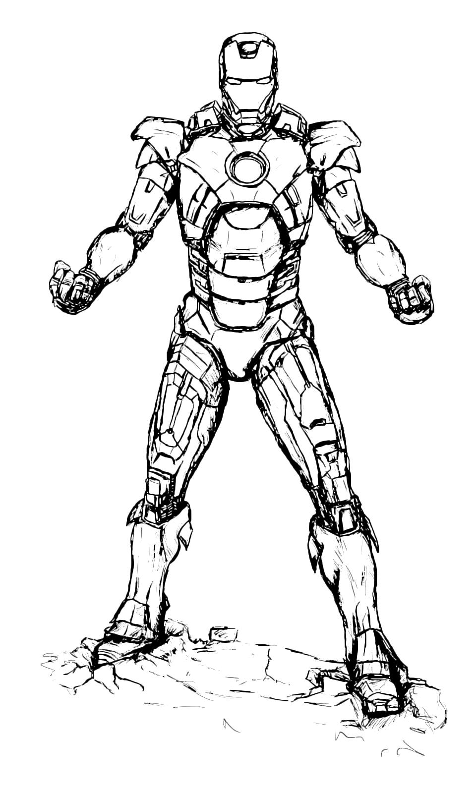 Iron man iron man sfida il suo nemico for Immagini super eroi da colorare