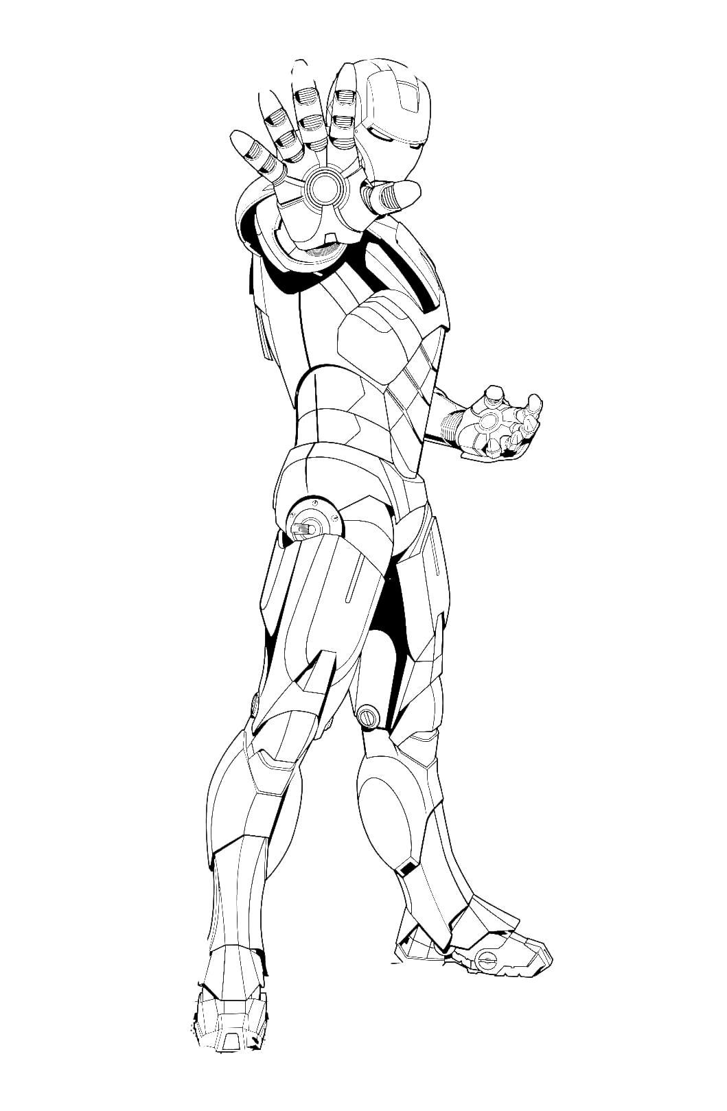 Iron Man Iron Man Sta Caricando La Sua Arma