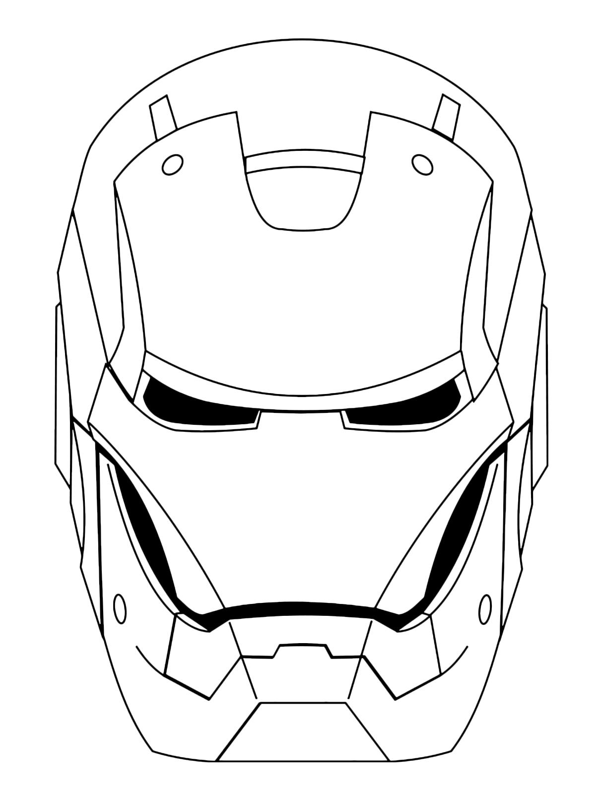 Iron man la maschera di iron man for Immagini super eroi da colorare