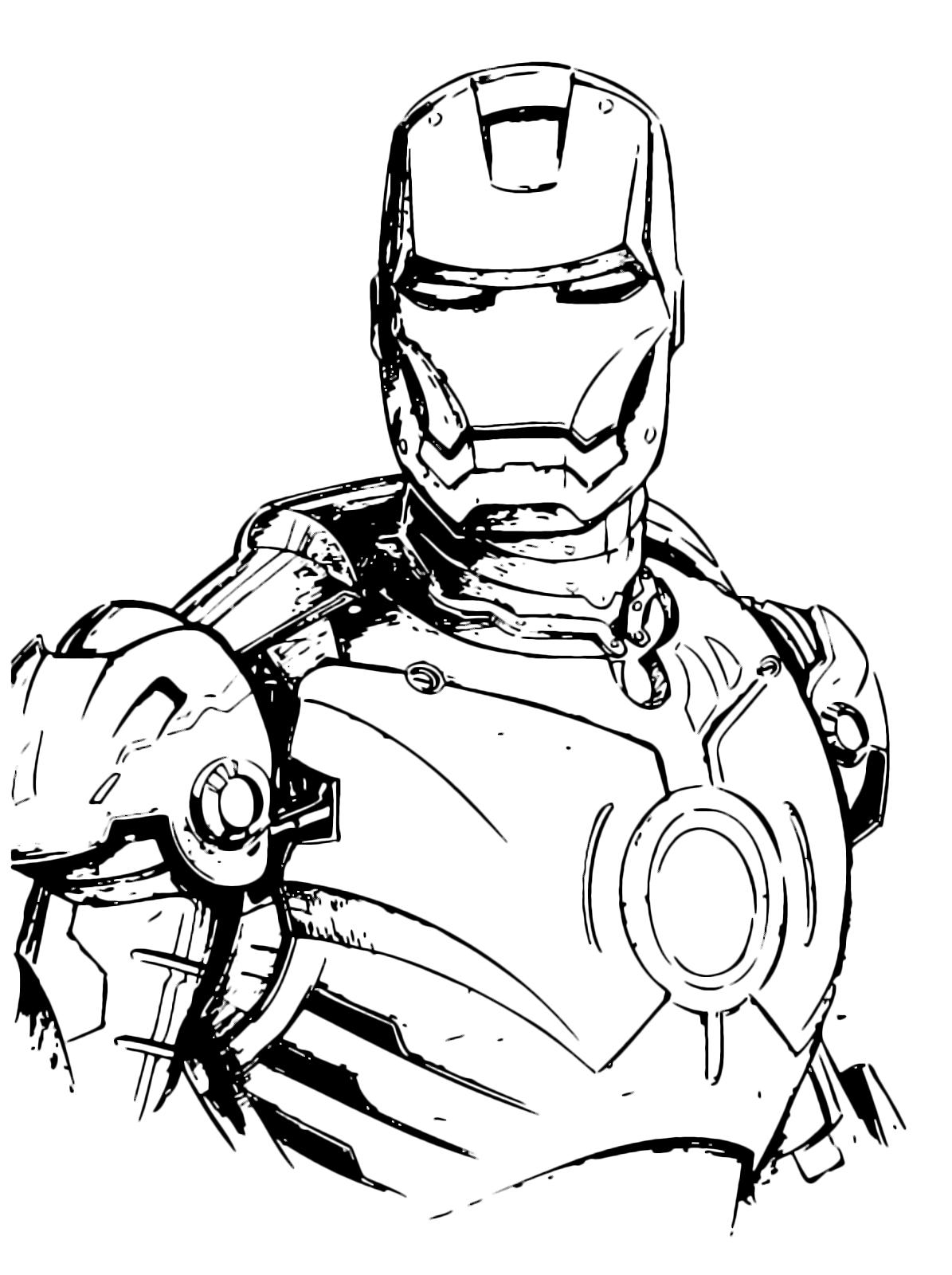 Disegni Di Iron Man Da Colorare | Migliori Pagine da ...