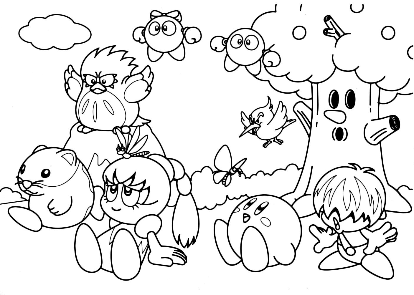 Kirby kirby e i suoi amici tuff tiff tokkori e whispy for I suoi e i suoi bagni