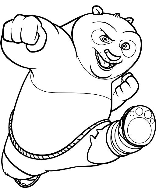 Disegni Di Quot Kung Fu Panda Quot Da Colorare
