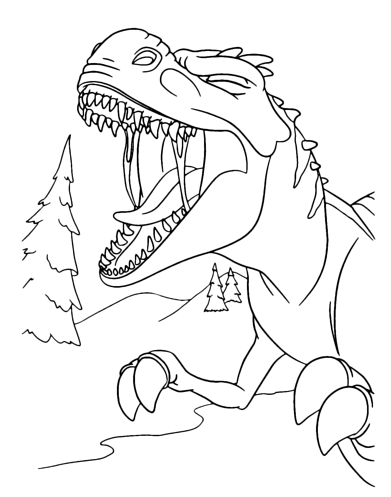 L 39 era glaciale mamma t rex ruggisce con la bocca spalancata for Bocca da colorare