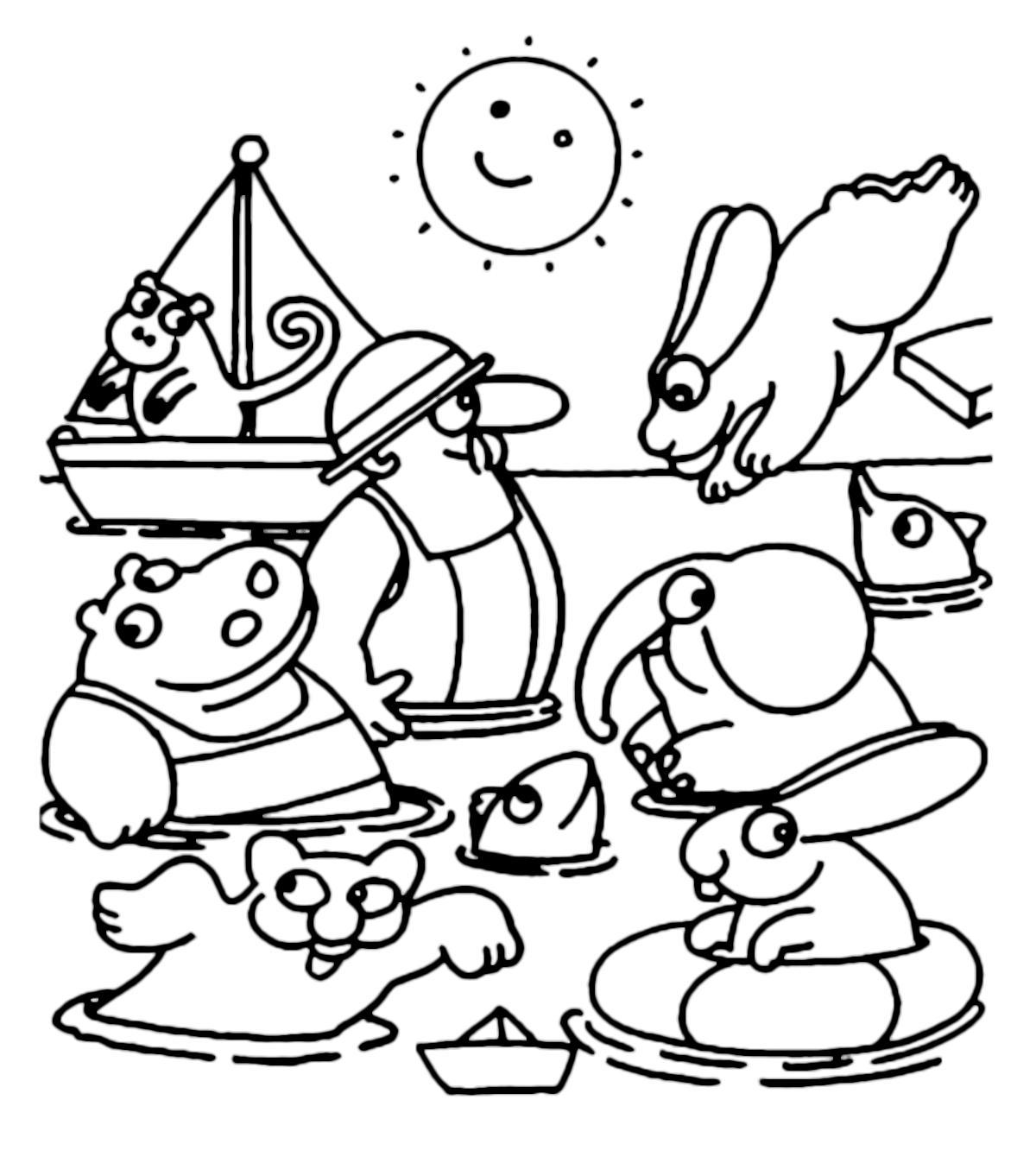 La pimpa la pimpa al mare con i suoi amici che fa i tuffi for Pimpa da stampare