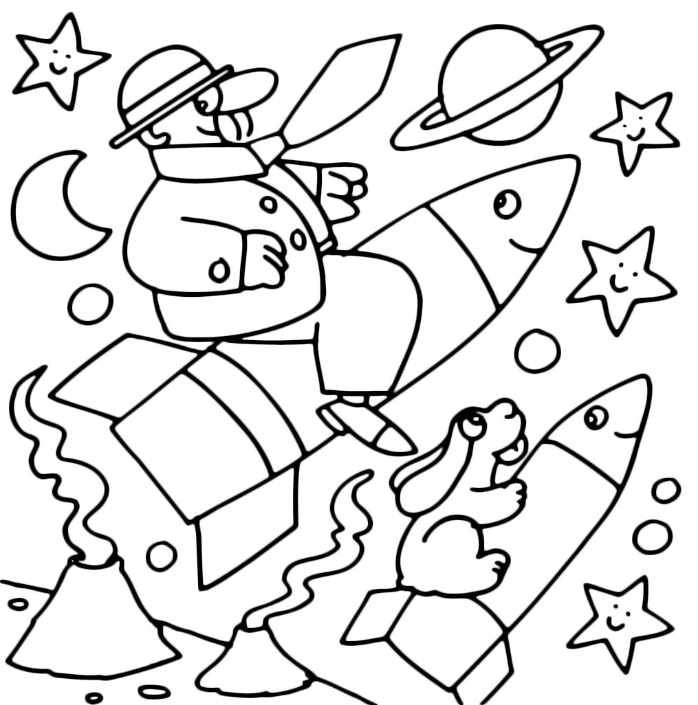 La pimpa la pimpa e armando volano nello spazio in for Pimpa da colorare