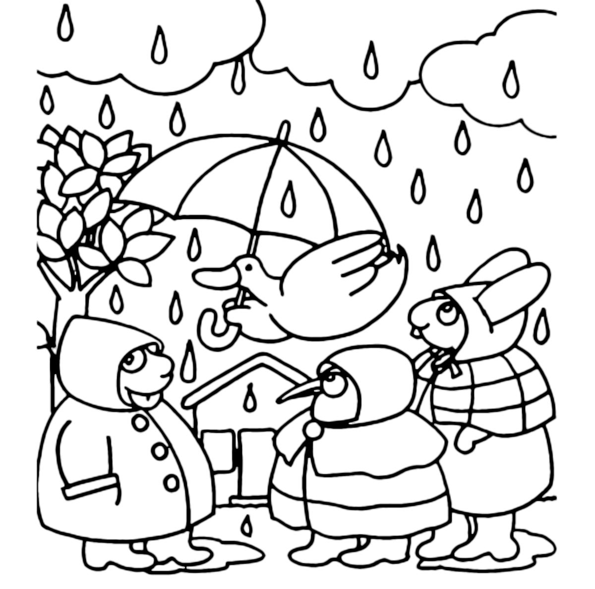 La pimpa la pimpa e i suoi amici con l 39 ombrello sotto la for Pimpa da stampare e colorare