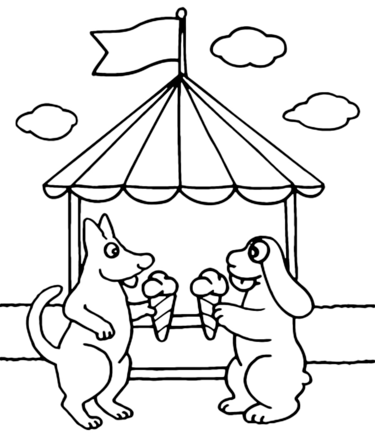 La pimpa la pimpa e tito mangiano un gelato for Pimpa da stampare e colorare