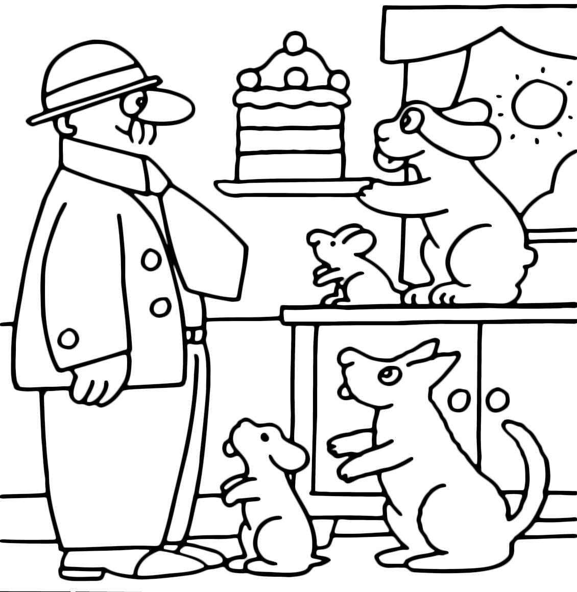 La pimpa la pimpa offre la torata ad armando for Pimpa da stampare