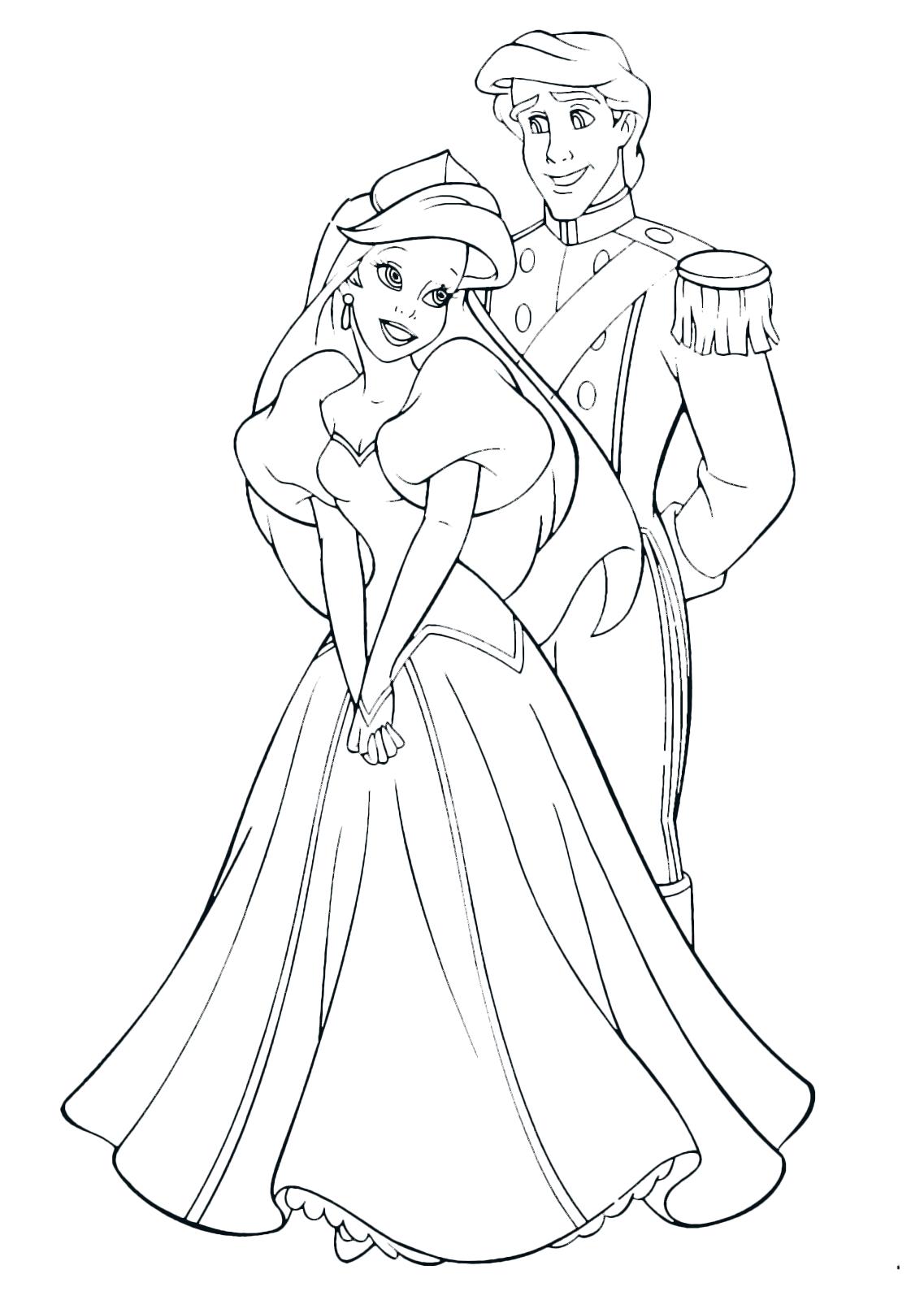 La sirenetta ariel ed eric vestiti da sposi for La sirenetta da stampare