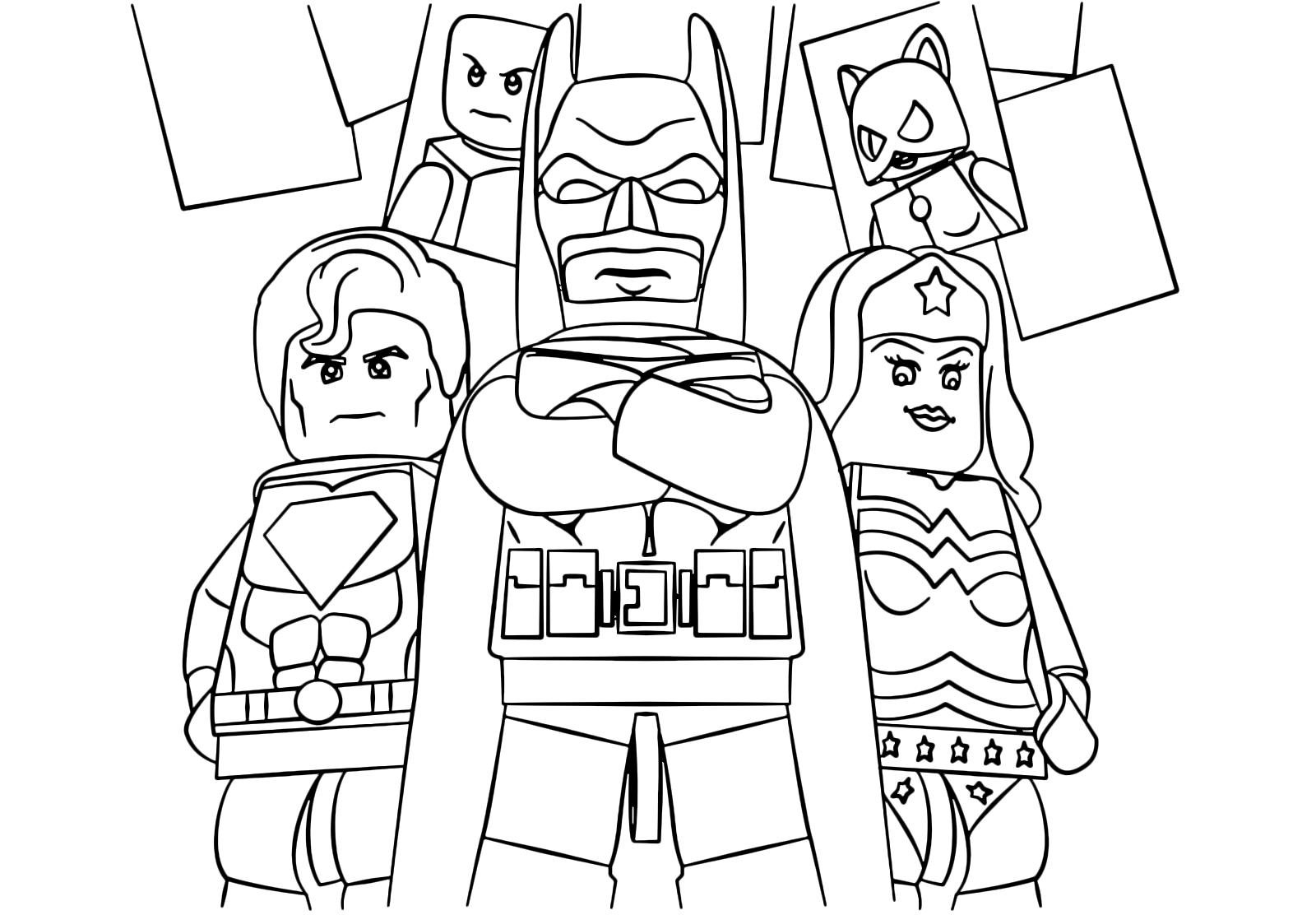 Batman Con Gli Altri Supereroi