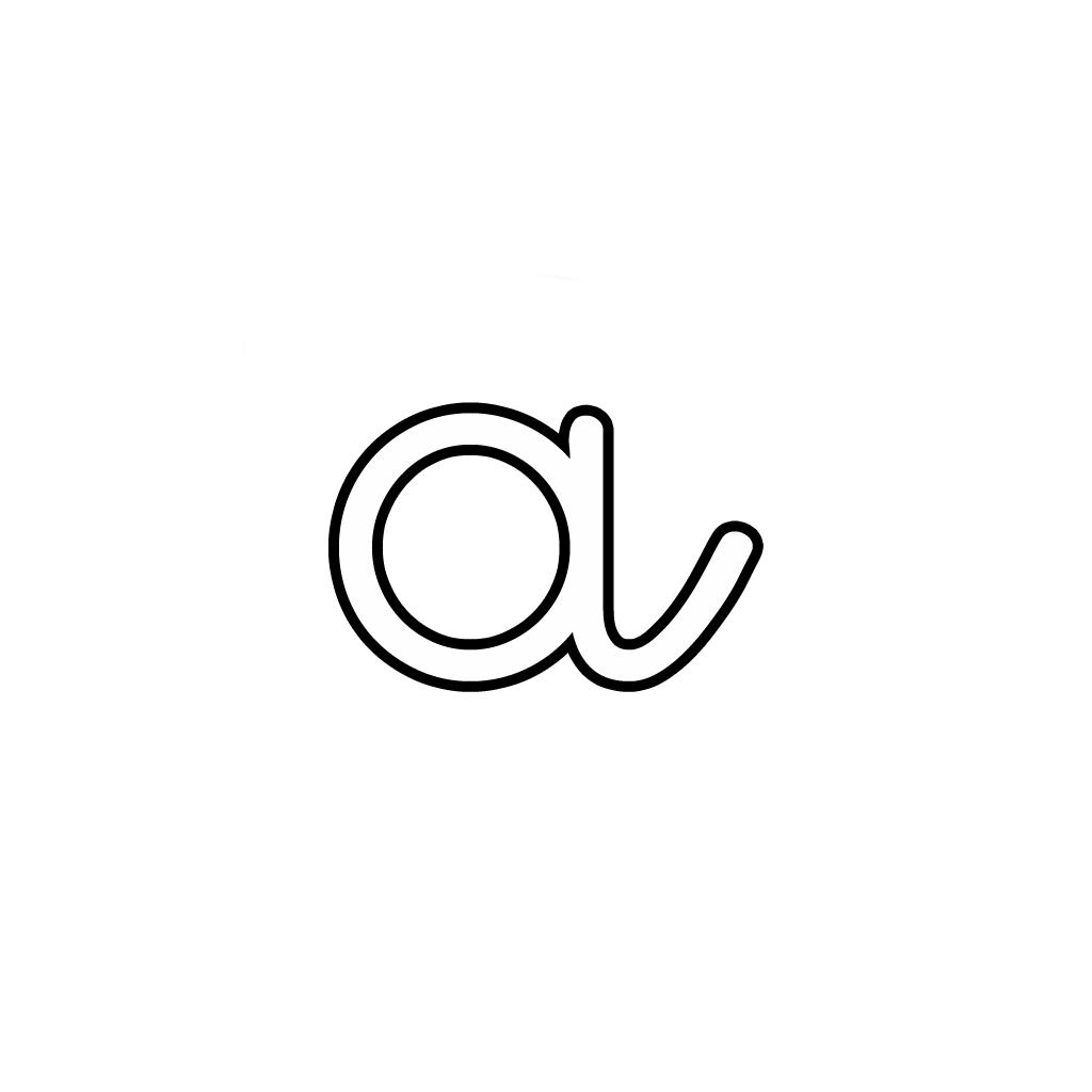 Lettere Alfabeto Corsivo Minuscolo: Lettera A Corsivo Minuscolo