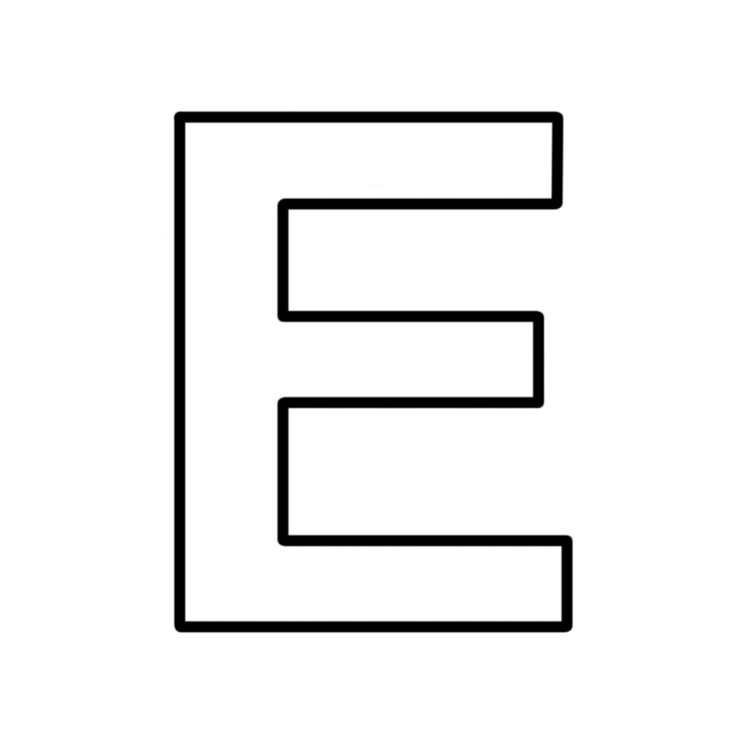 Lettere e numeri Lettera E stampatello maiuscolo