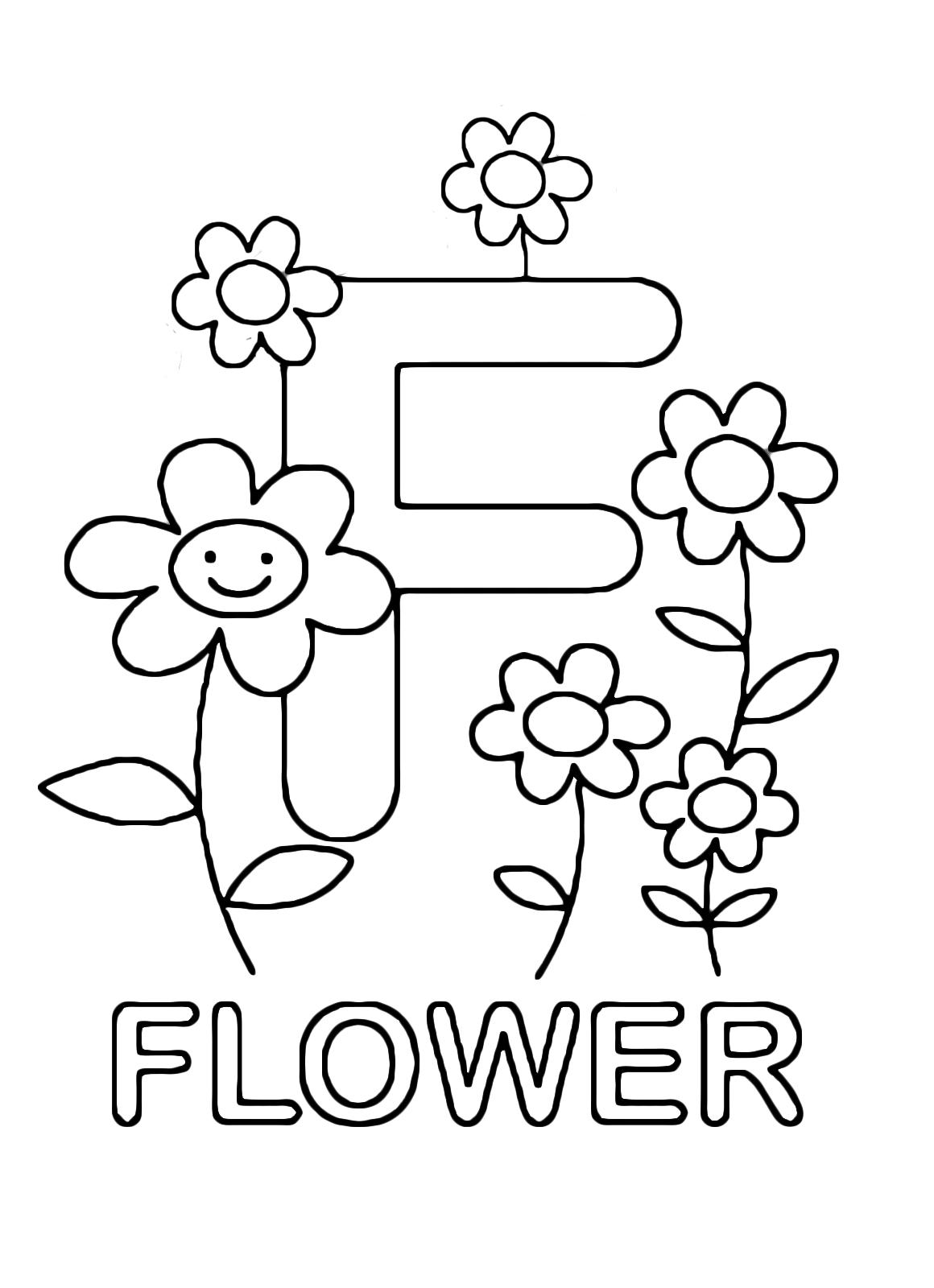 Fiori In Inglese.Lettere E Numeri Lettera F In Stampatello Di Flower Fiore In