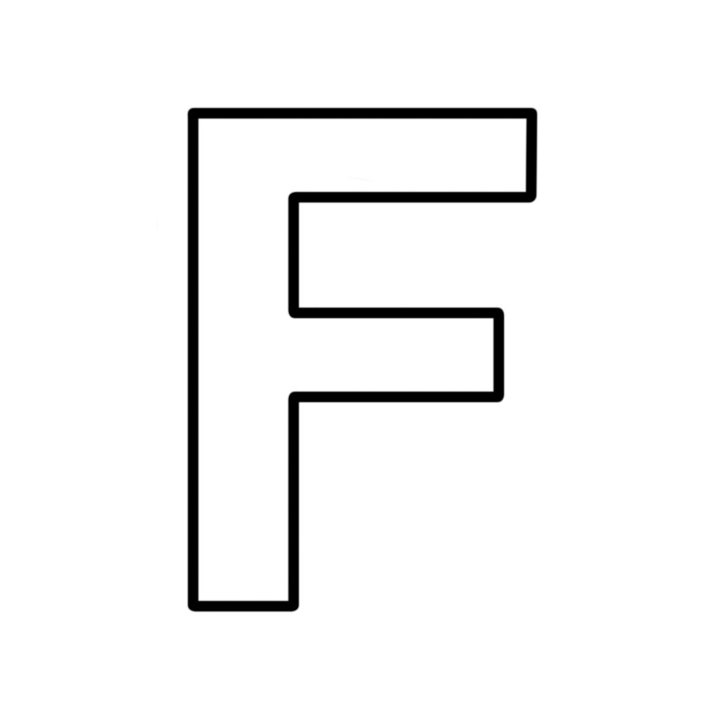 lettere e numeri lettera f stampatello maiuscolo art clip art free art clip art images