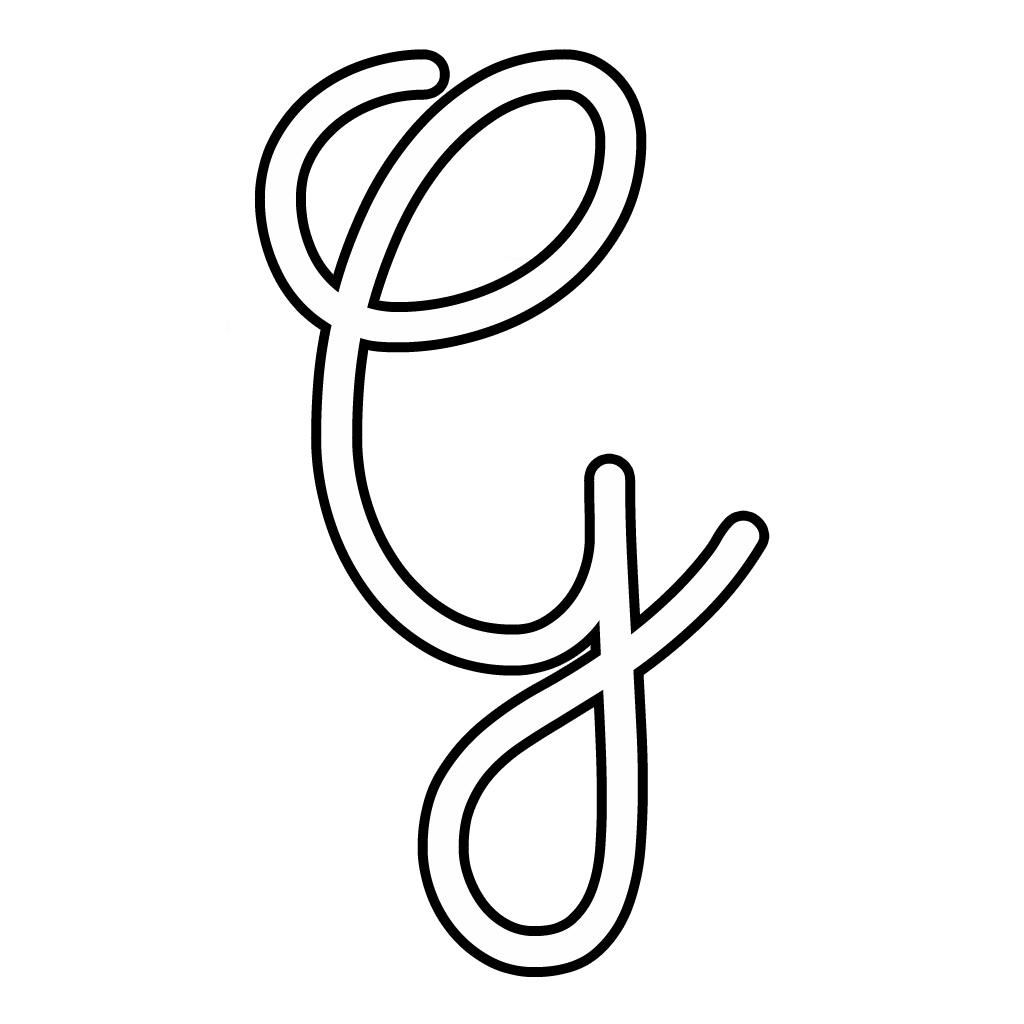 Favoloso e numeri - Lettera G corsivo maiuscolo JK07
