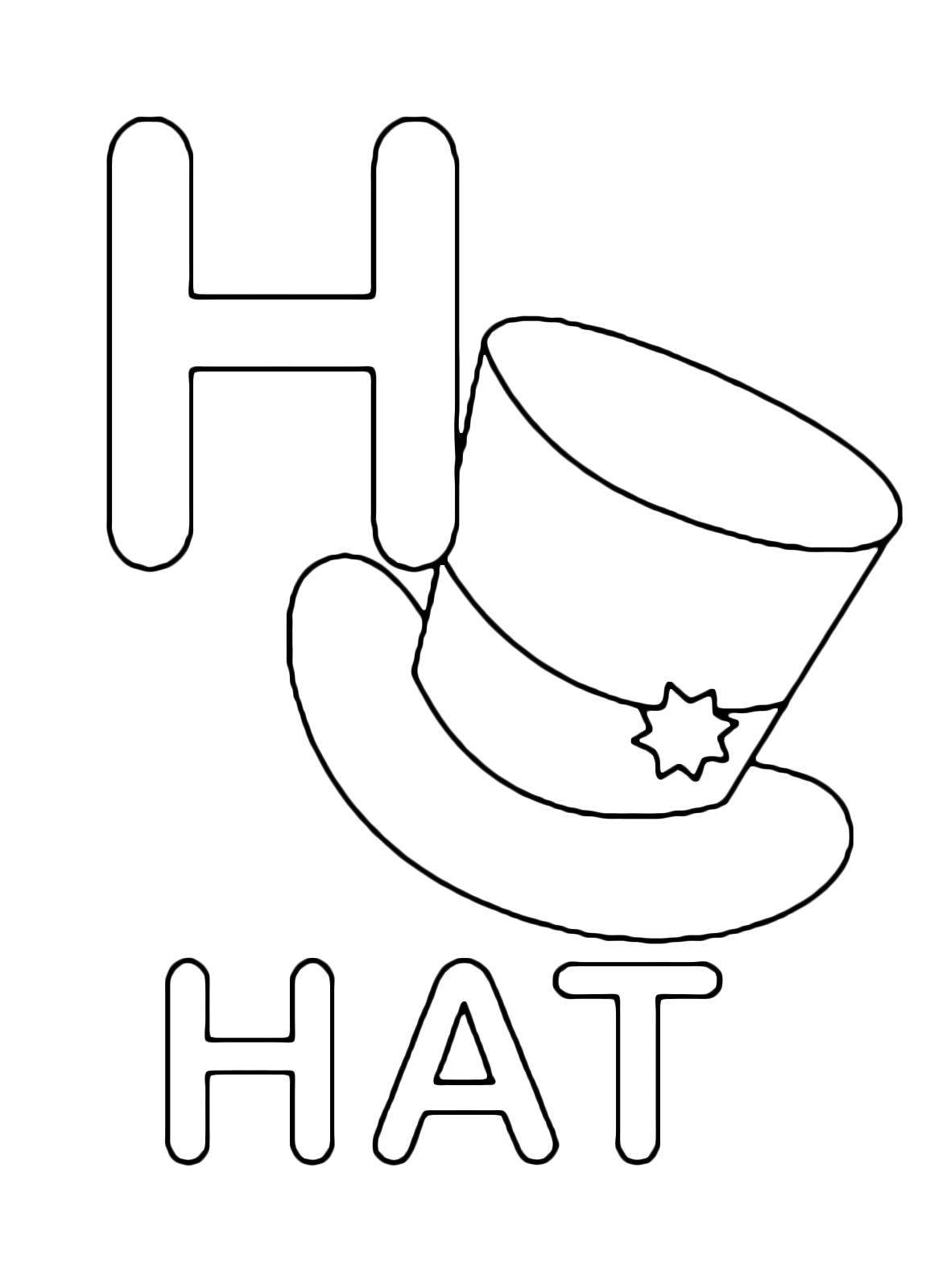 Lettere e numeri - Lettera H in stampatello di hat ...