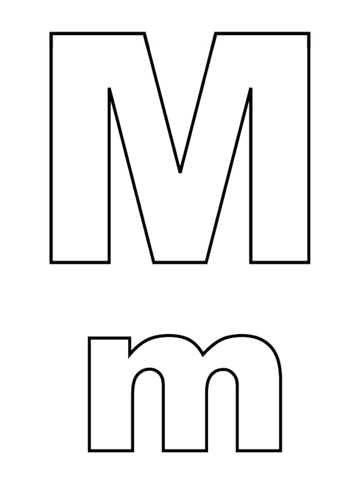 Lettere e numeri - Lettera M stampato maiuscolo e minuscolo