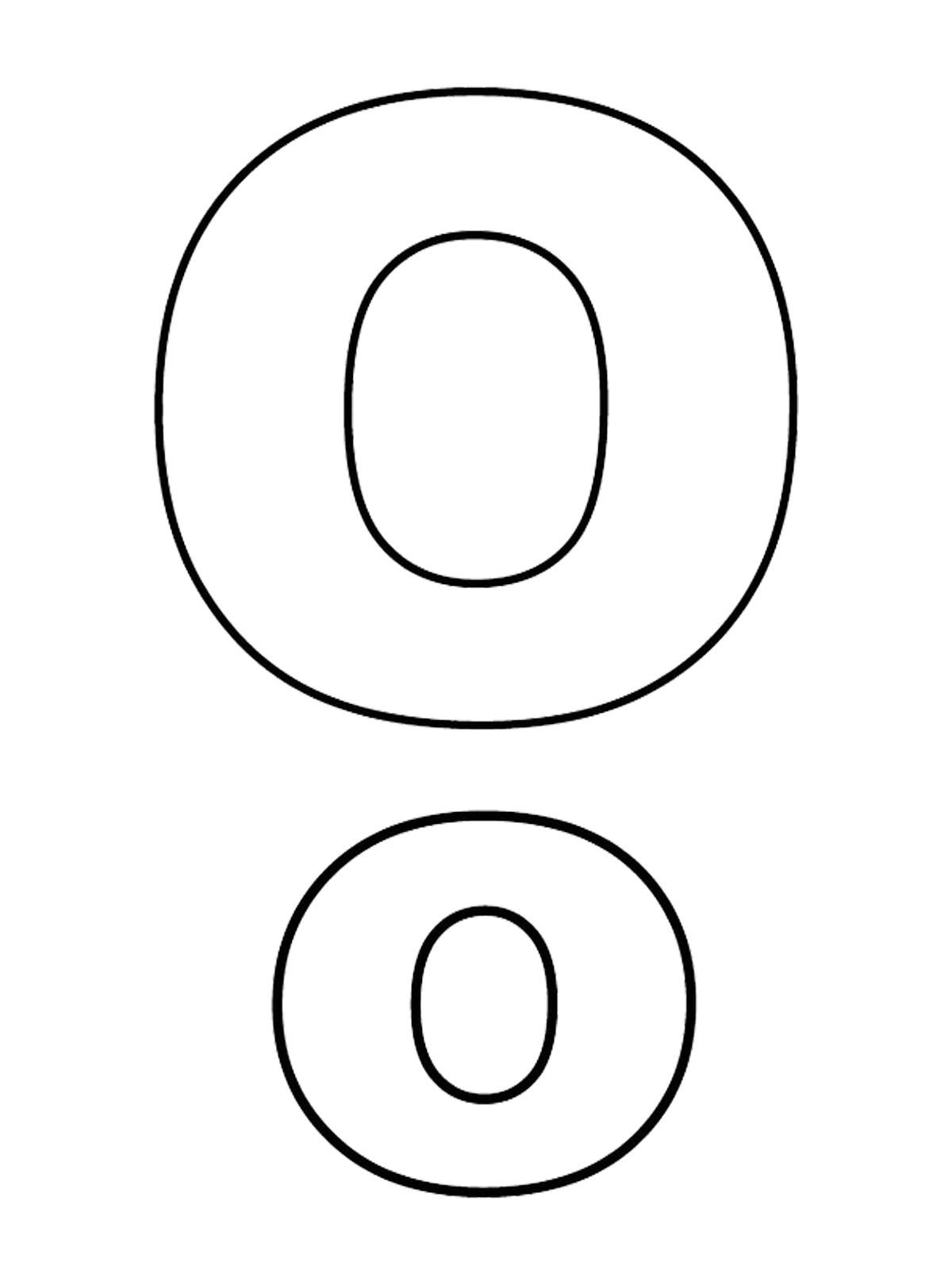 Lettere e numeri - Lettera O stampato maiuscolo e minuscolo