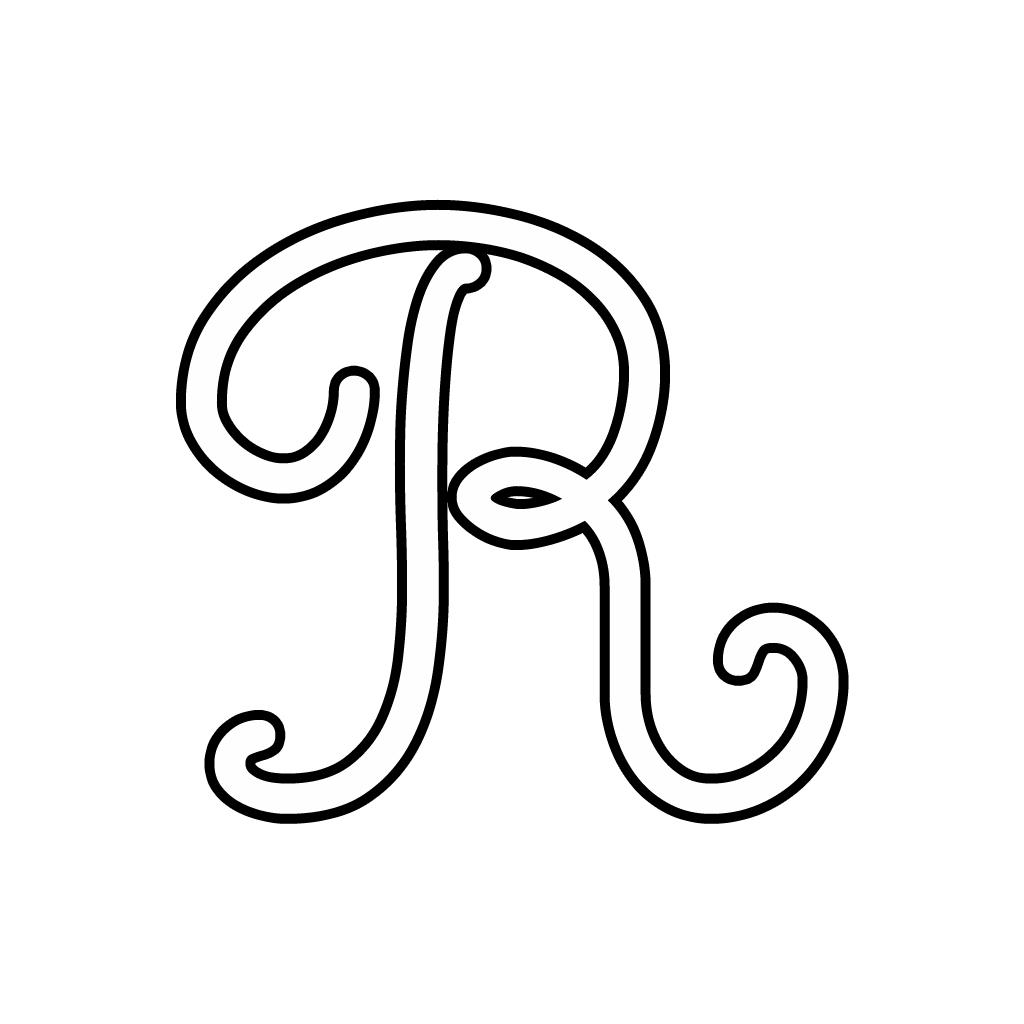 Lettere Alfabeto Corsivo Minuscolo: Lettera R Corsivo Maiuscolo