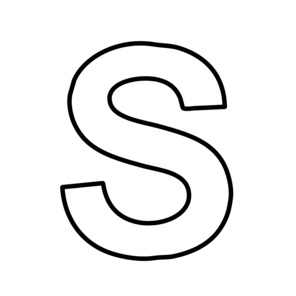 Lettere e numeri - Lettera S stampatello maiuscolo