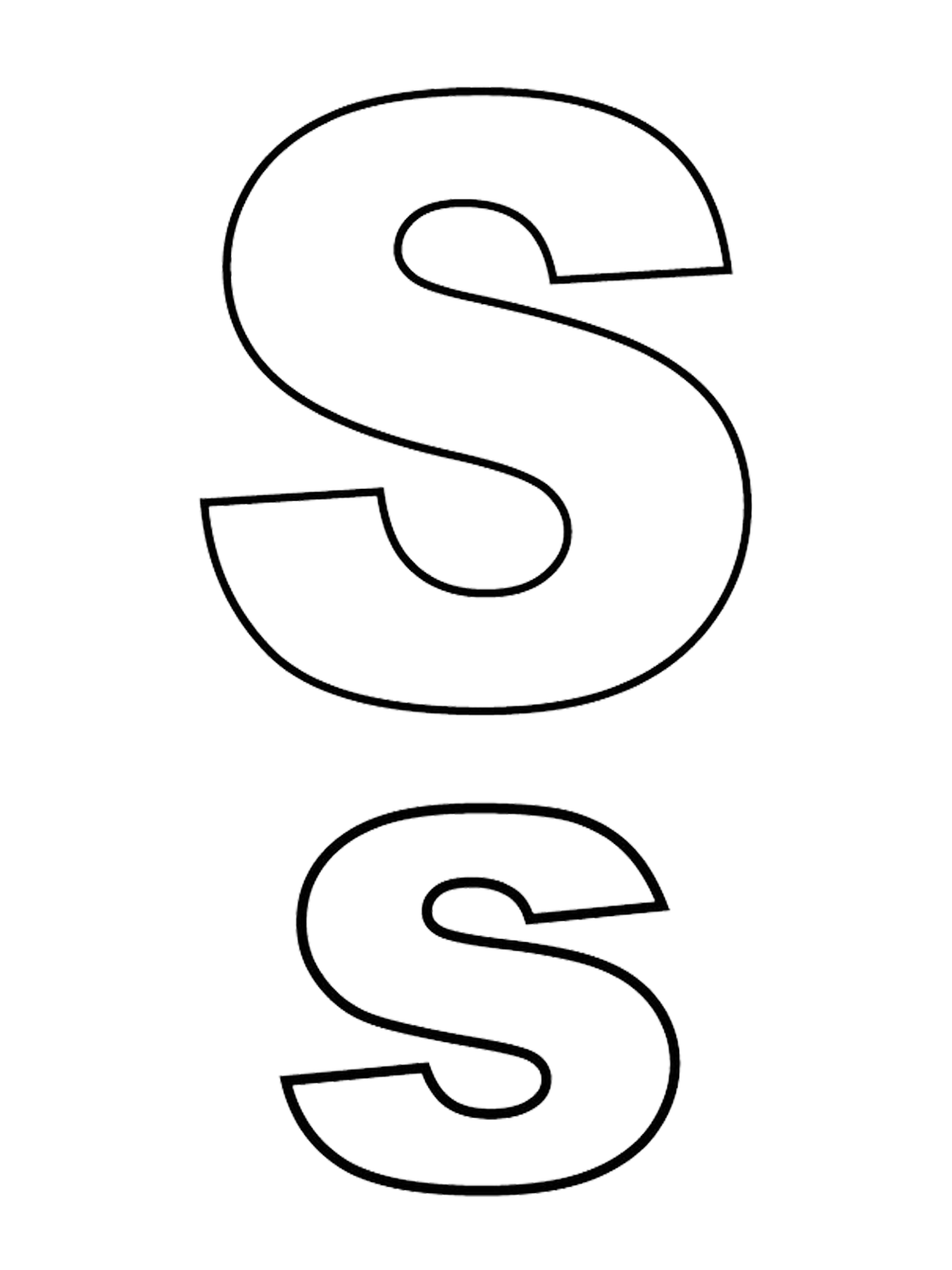 Lettere E Numeri Lettera S Stampato Maiuscolo E Minuscolo
