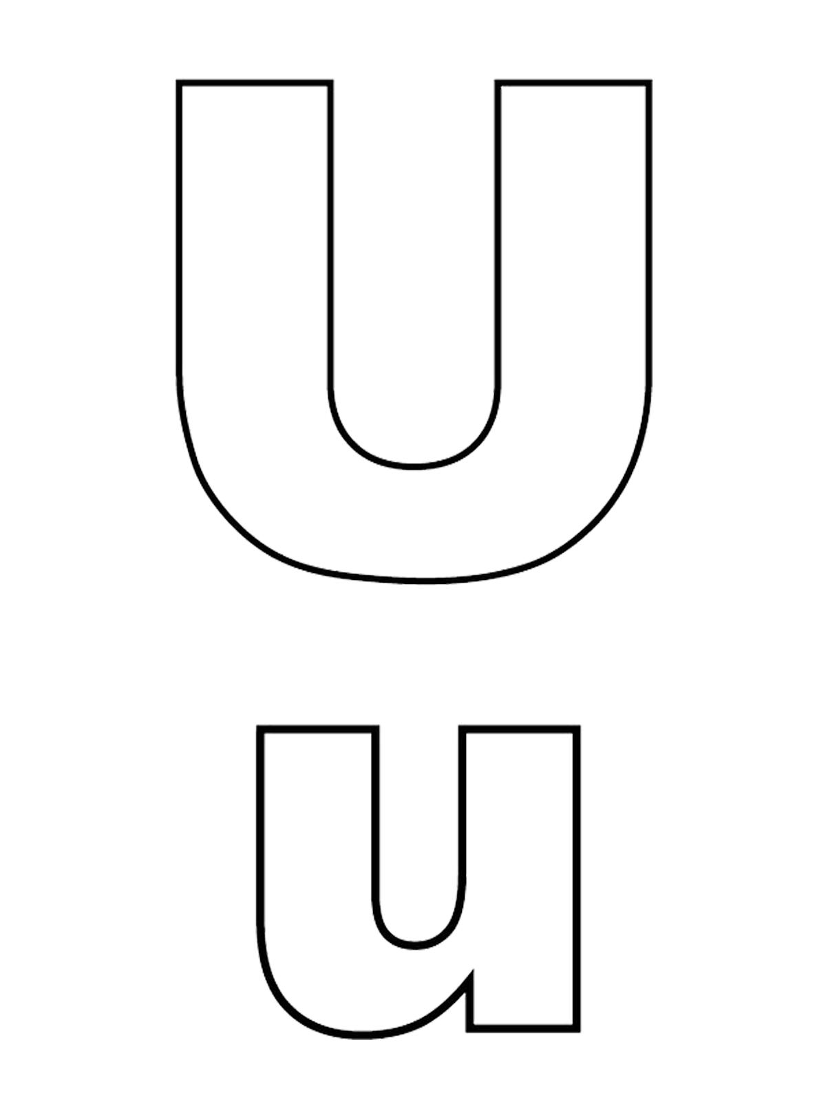 U A 2018 >> Lettere e numeri - Lettera U stampato maiuscolo e minuscolo