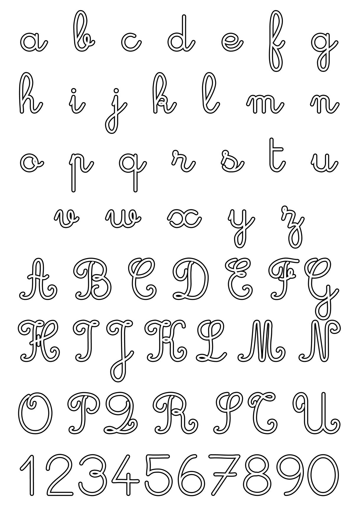 Lettere e numeri - Lettere e numeri corsivo maiuscolo e minuscolo