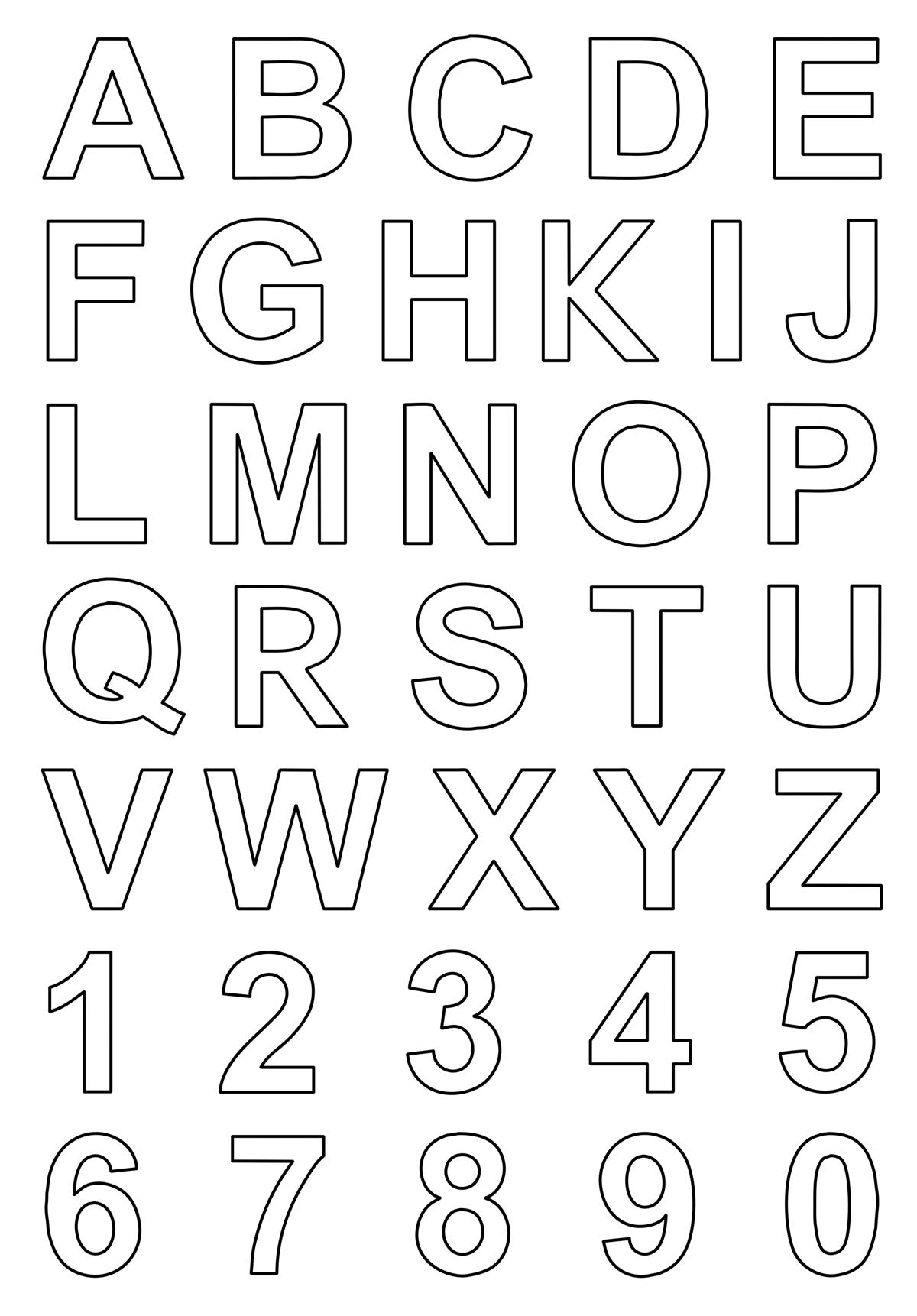Lettere e numeri lettere e numeri stampatello - Numeri per tavoli da stampare ...