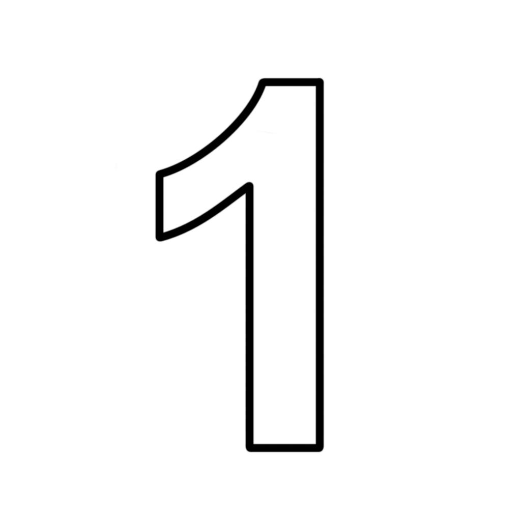 Ben noto e numeri - Numero 1 (uno) stampatello EP72