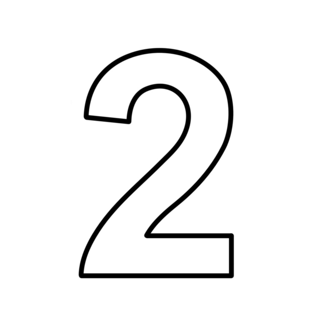 Lettere e numeri numero 2 due stampatello - Numeri per tavoli da stampare ...