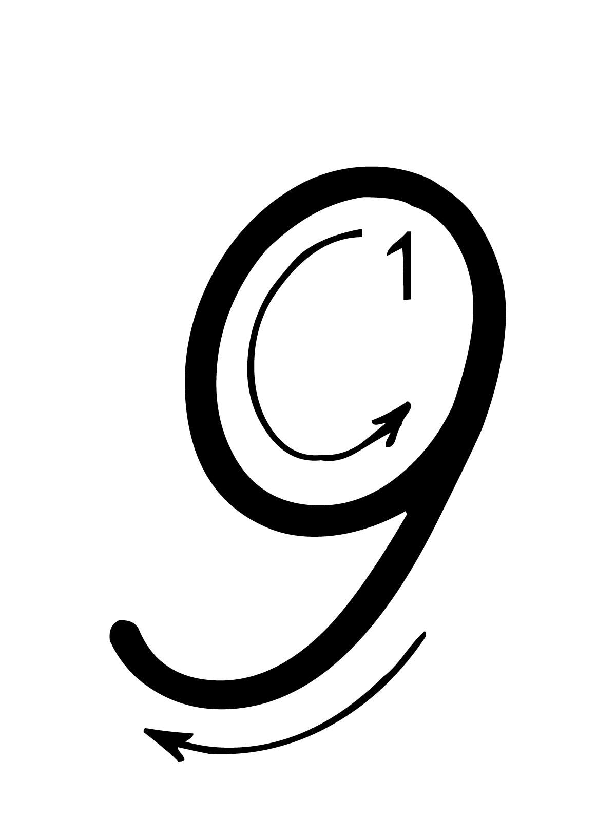Lettere E Numeri Numero 9 Nove Con Indicazioni