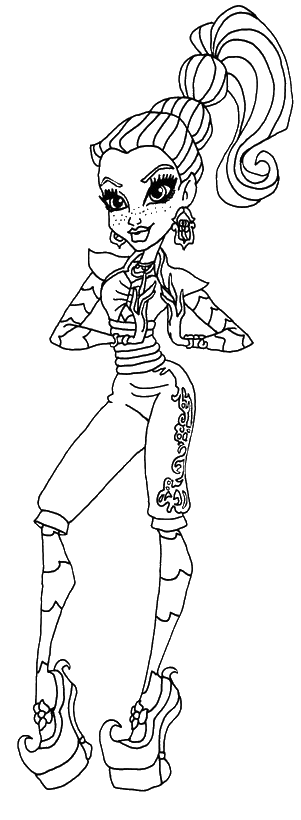 Gigi Monster High Coloring Pages