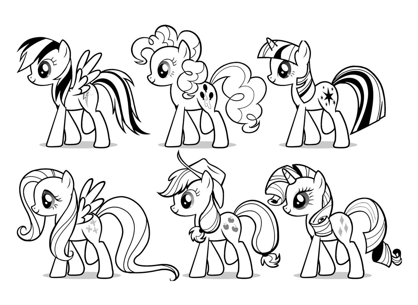 My Little Pony Colorare.My Little Pony I My Little Pony Tutti Assieme