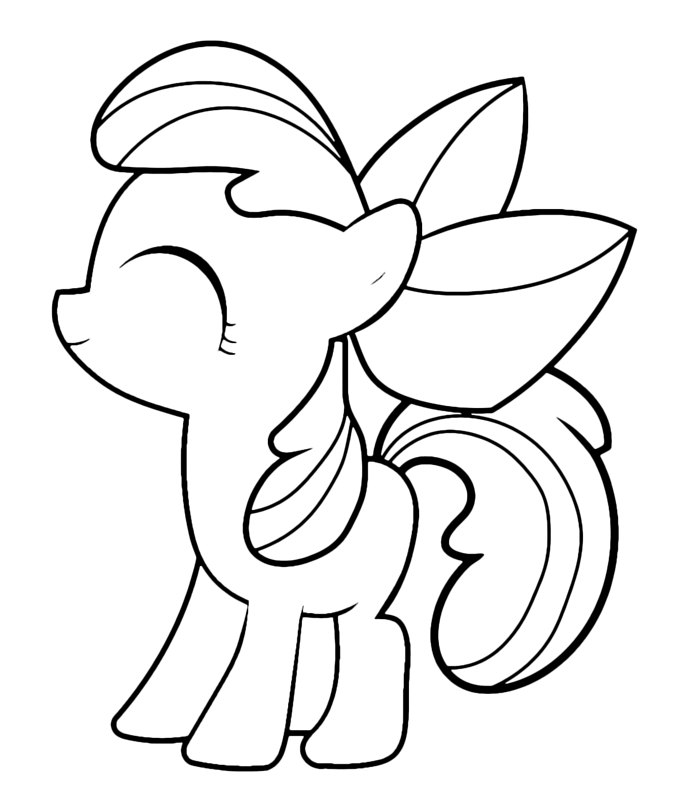 my little pony apple bloom coloring page free printable - 721×900