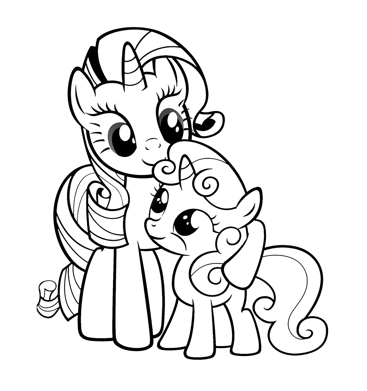 Rarity Con Un Baby Pony