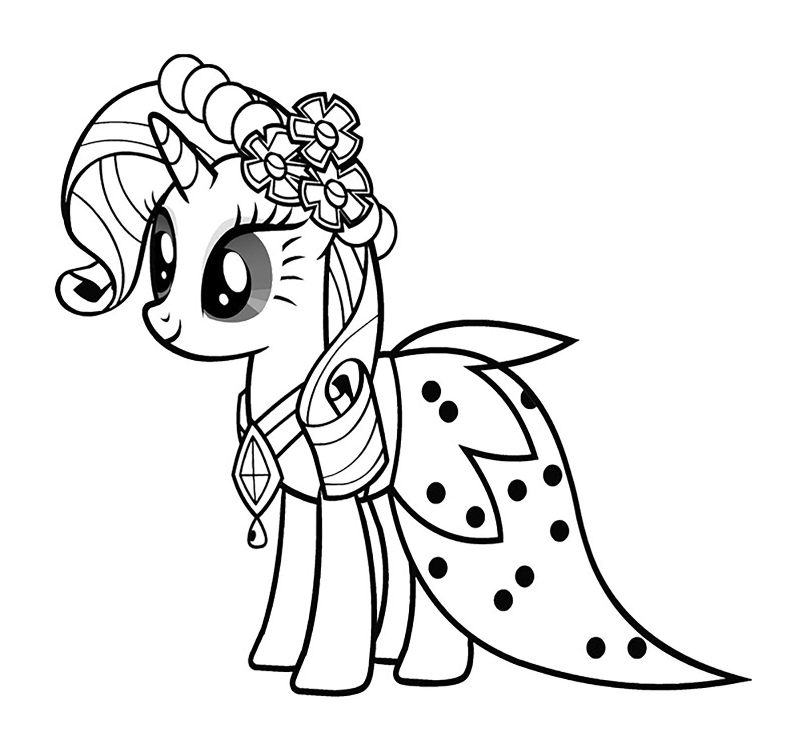 My Little Pony Starlight Glimmer Coloring Pages : Starlight glimmer pony coloring page pages